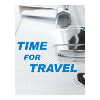 Time for travel flyer