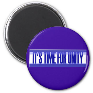 Time for Unity Round Magnet