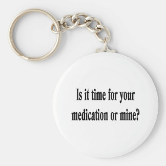 Time for your medication basic round button keychain