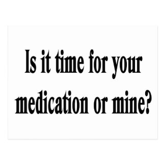 Time for your medication postcard