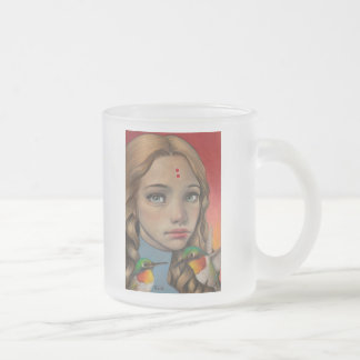 Time Frosted Glass Coffee Mug