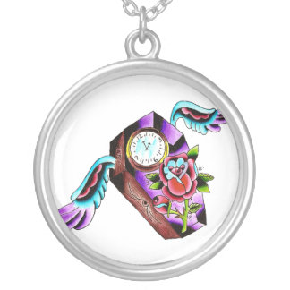 Time Goes By Round Pendant Necklace