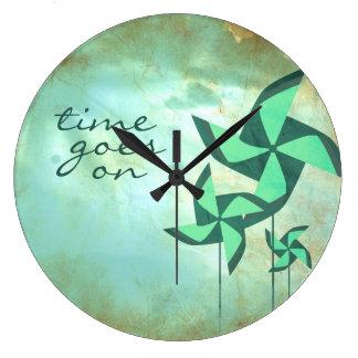 time goes on pinwheel dreams wallclock