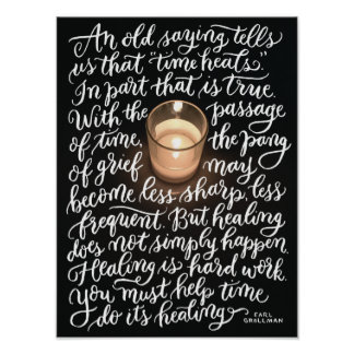 Time Heals Hand-lettered Art Poster
