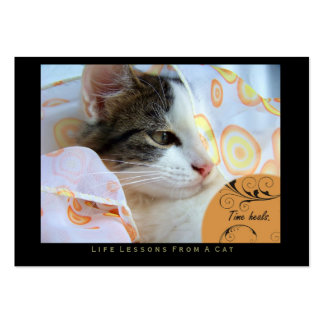 Time Heals Life Lessons From a Cat ACEO Art Cards Business Card Template