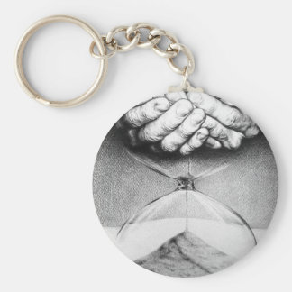 Time hourglass surreal drawing Keychain