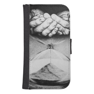 Time hourglass surreal drawing Samsung wallet case Galaxy S4 Wallet