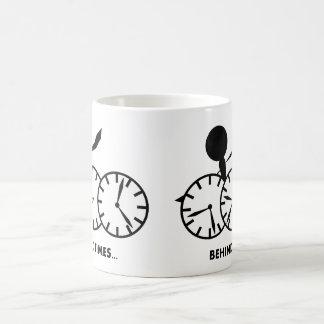 Time Idioms Series - Behing Times Mugs
