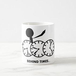 Time Idioms Series - Behing Times Coffee Mug