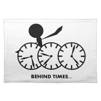 Time Idioms Series - Behing Times Place Mat