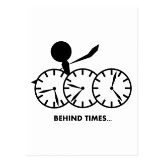 Time Idioms Series - Behing Times Postcard