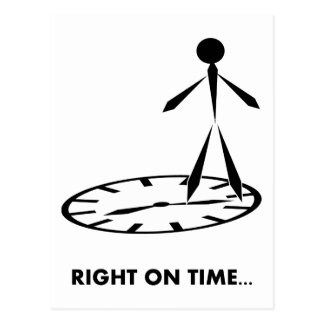 Time Idioms Series - Right on Time Postcard