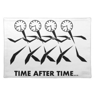Time Idioms Series - Time after time Placemats
