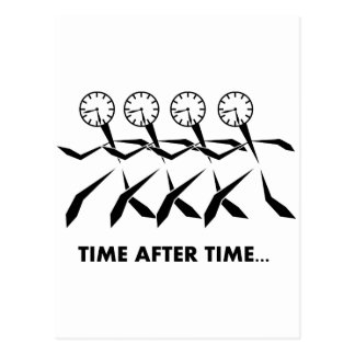 Time Idioms Series - Time after time Postcard