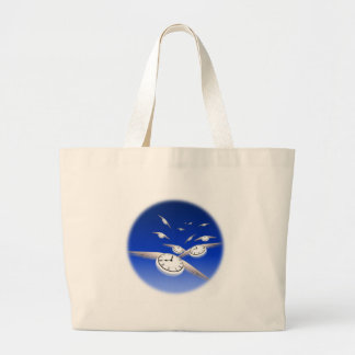 Time in Flight Large Tote Bag