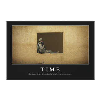 Time: Inspirational Quote Canvas Print