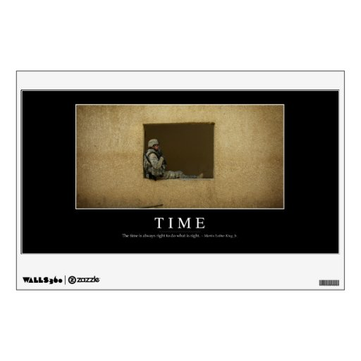 Time: Inspirational Quote Wall Sticker