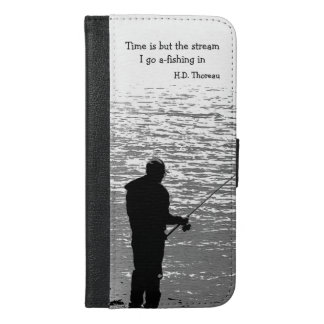 Time is but the Stream iPhone 6 Plus Wallet Case