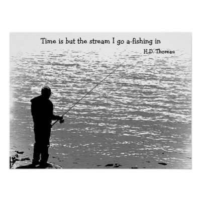 Time is but the stream poster