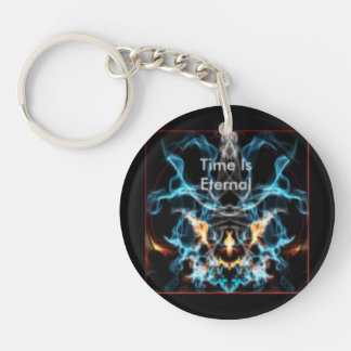Time Is Eternal single sided keychain