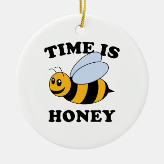 Time Is Honey Ceramic Ornament