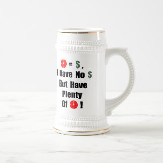 Time is money beer stein