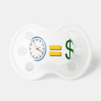 time is money BooginHead pacifier