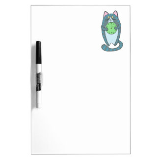 Time Is Money Cat Dry-Erase Board