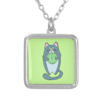 Time Is Money Cat Custom Necklace