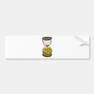 Time is Money Hourglass Bumper Sticker