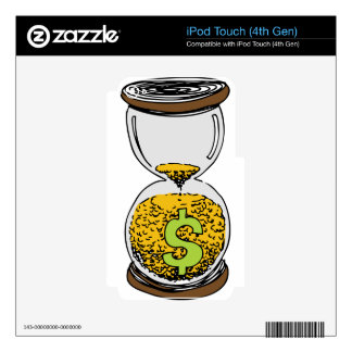 Time is Money Hourglass Decals For iPod Touch 4G