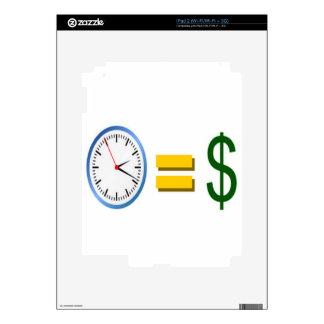 time is money iPad 2 skins