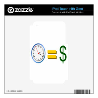time is money iPod touch 4G skin