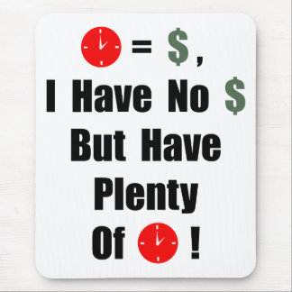 Time is money mouse pad