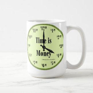 Time is Money - Mug Green Clock Face