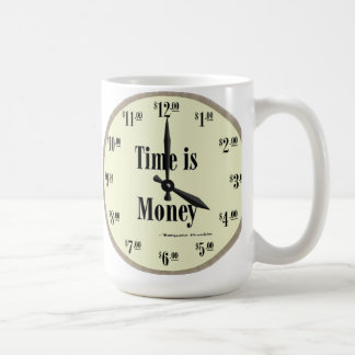 Time is Money - Mug Taupe Clock Face