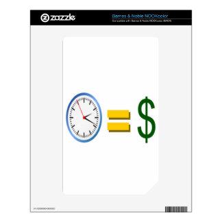 time is money NOOK color skins