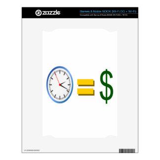 time is money NOOK skins
