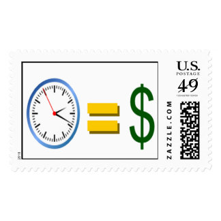 time is money postage stamps