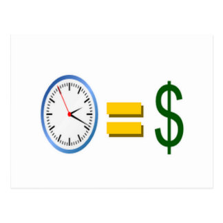 time is money post card