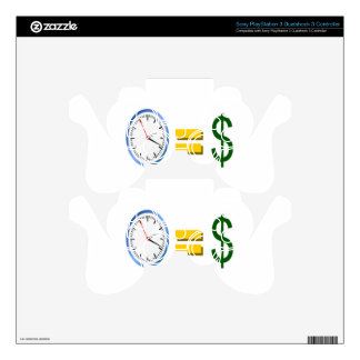 time is money PS3 controller decal
