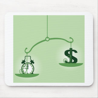 Time Is Money scale Mouse Pad