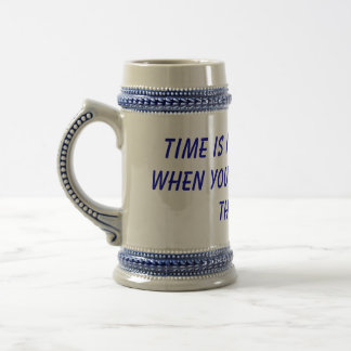 Time is never wasted when you're wasted all thetme 18 oz beer stein