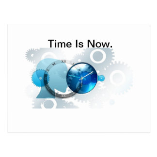 Time Is Now -products. Postcard