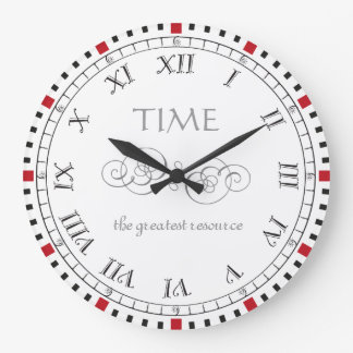 Time is our greatest resource vintage style large clock