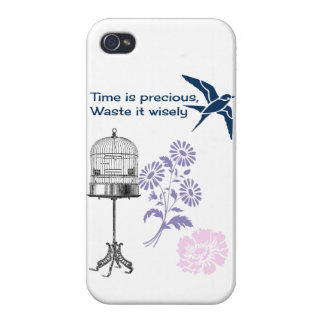 Time is precious, waste it wisely iPhone 4/4S cover