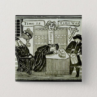 'Time Is, Time Was', copy of an illustration from Pinback Button