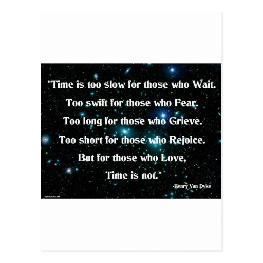 Time is too slow post card