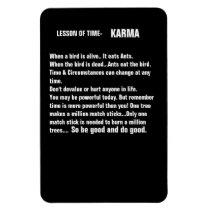 Time & Karma refrigerator magnets