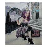 time keeps ticking steampunk faery poster